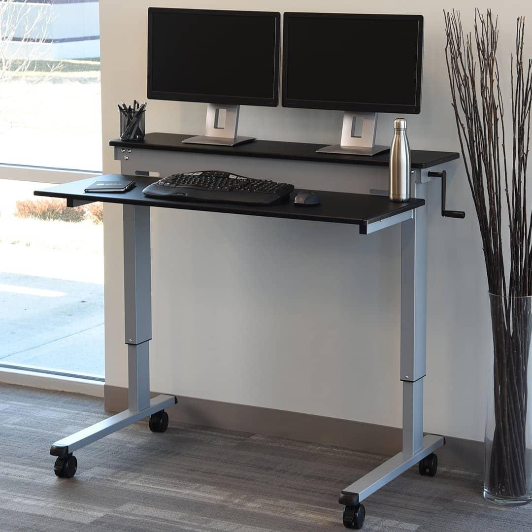 Crank-Adjustable-Sit-to-Stand-Desk