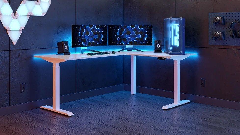 autonomous l shaped standing desk review